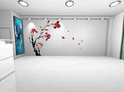 白天室内窗户的手绘表现