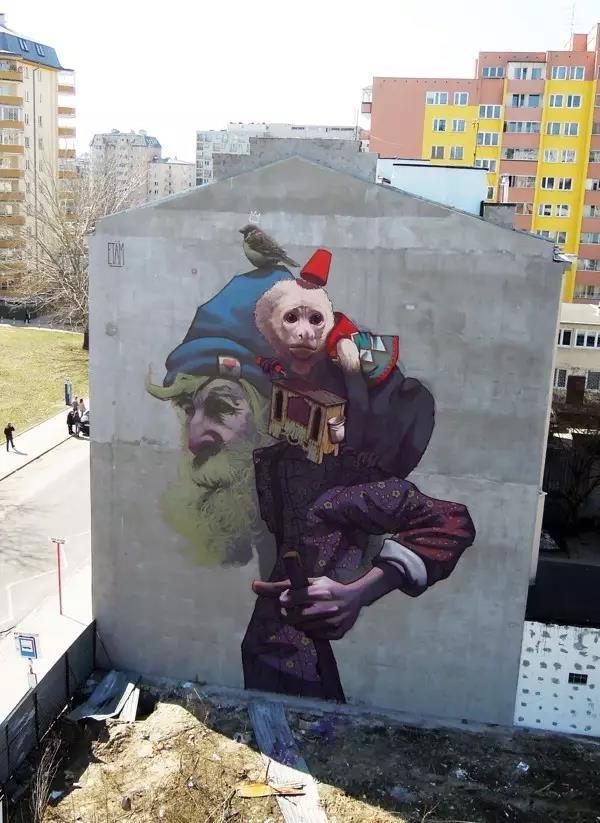 墙绘这种新兴的装饰方式渐渐被人们接受