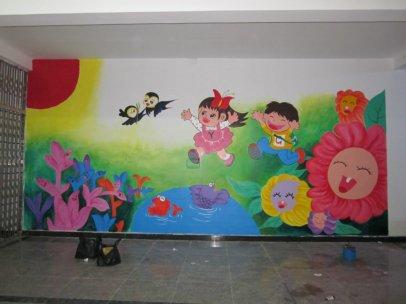 南昌喷画公司,南昌喷画,南昌手绘古建,南昌幼儿园彩绘