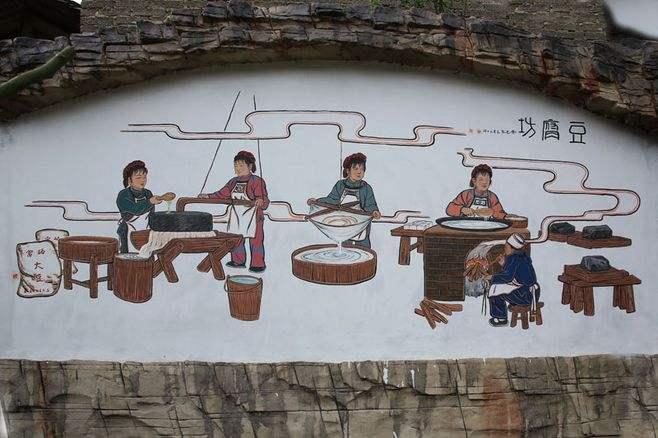 南昌彩绘古建筑,南昌手绘背景图,南昌背景图手绘,南昌手绘背景